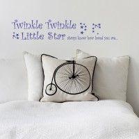 Twinkle Twinkle Kids Medium Wall Sticker Purple