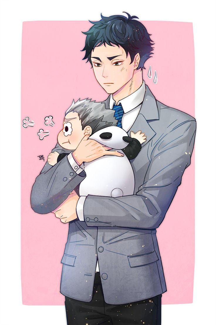 Bokuto and Akaashi | Goodness gracious, I love it when characters like Akaashi make this kind of face. ❤