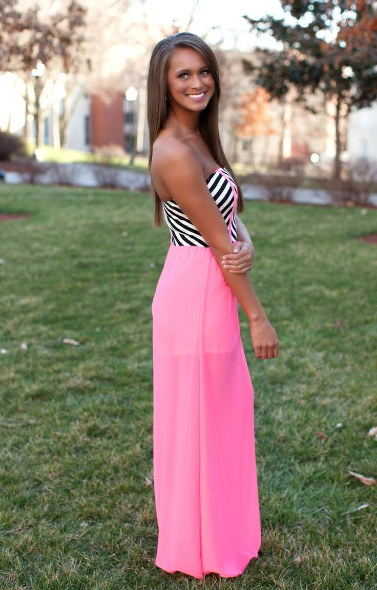 The Pink Lily Boutique - All I Want Neon Pink Maxi, $40.00 (http://thepinklilyboutique.com/all-i-want-neon-pink-maxi/)