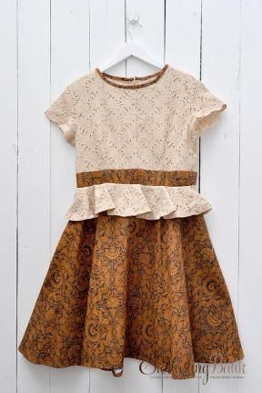 Friska Peplum Sogan Batik Dress