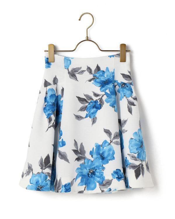 ビビット花柄スカート