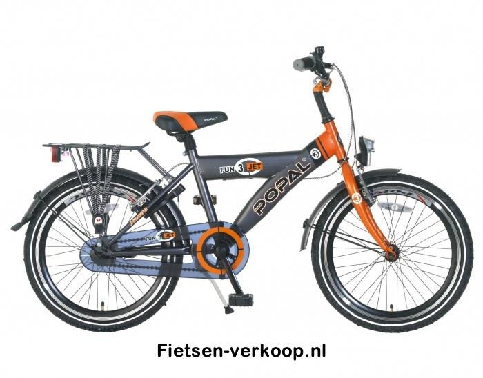 Jongensfiets Fun jet Grijs-Oranje 20 Inch | bestel gemakkelijk online op Fietsen-verkoop.nl