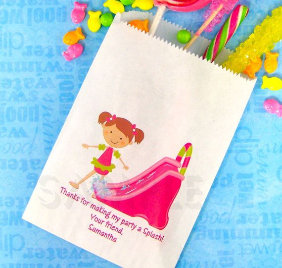 Pool Birthday Party Candy Bags Goody Bags by TheTrendyButterfly,