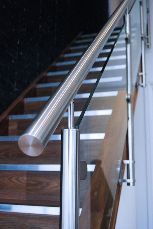 Brushed Stainless Steel combines beautifully with both timber and glass to produce a stylishly modern staircase for any contemporary home.