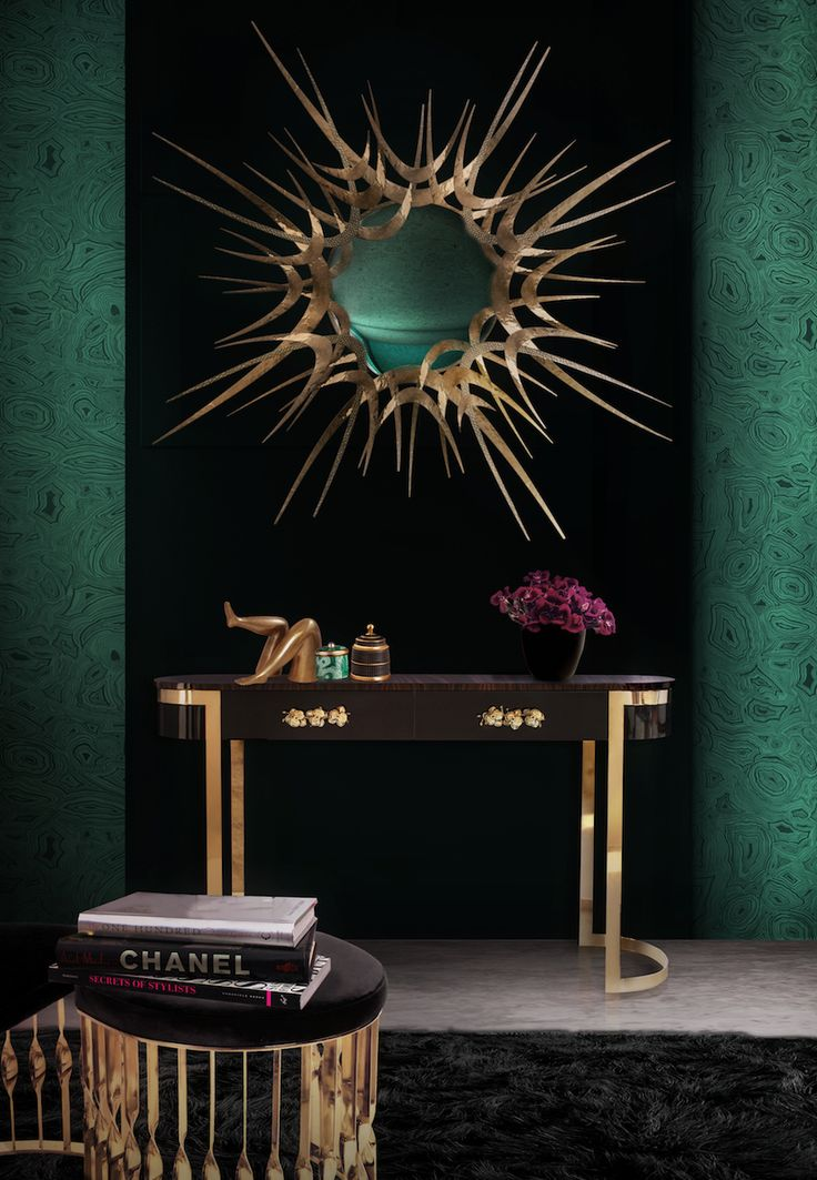 Guilt Wall Mirror by Koket is one of the most stunning pieces for a contemporary bathroom, it is a sculptured gold tones of hammered and textured brass with a hint of hard edge surround a perfectly cut convex mirror. ➤ Discover the season's newest designs and inspirations. Visit us at http://www.wallmirrors.eu #wallmirrors #wallmirrorideas #uniquemirrors @WallMirrorsBlog