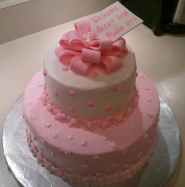 Baby shower cake for a girl.