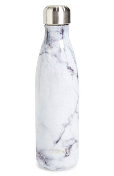 Free shipping and returns on S'well 'White Marble' Insulated Stainless Steel Water Bottle at Nordstrom.com. Stay hydrated in sleek, classic style with a double-walled stainless-steel water bottle featuring ThermaS'well™ fabrication that keeps cold drinks cold for up to 24 hours and hot drinks hot for up to 12. Each bottle features a vacuum-seal lid that keeps carbonated drinks bubbly and a wide mouth that makes it easy to fill, add ice cubes and clean.