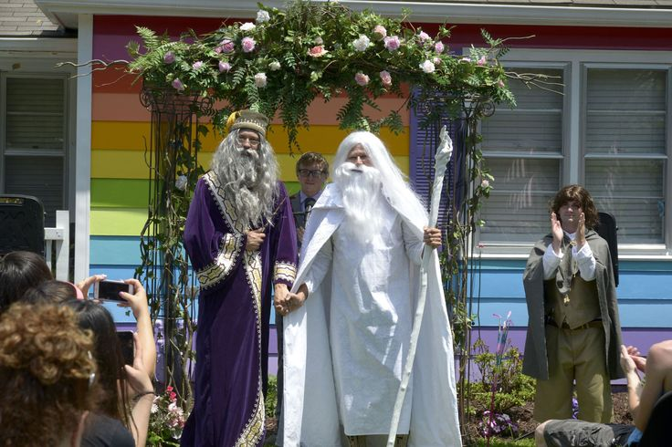 Gandalf and Dumbledore Got Married Right Outside the Westboro Baptist Church - Cosmopolitan.com