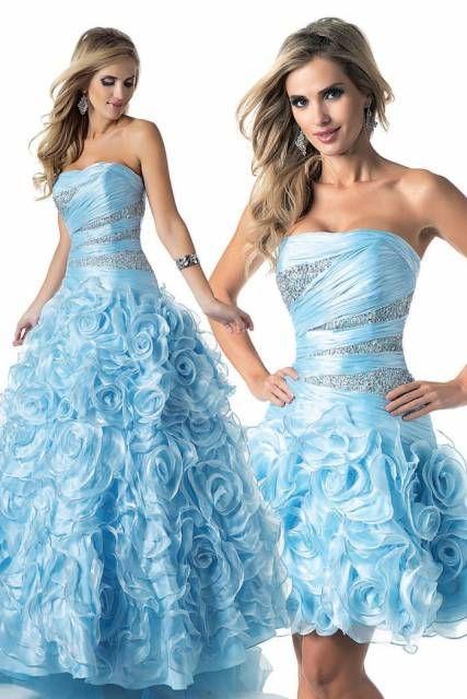 vestido de debutante com saia removível 2 em 1