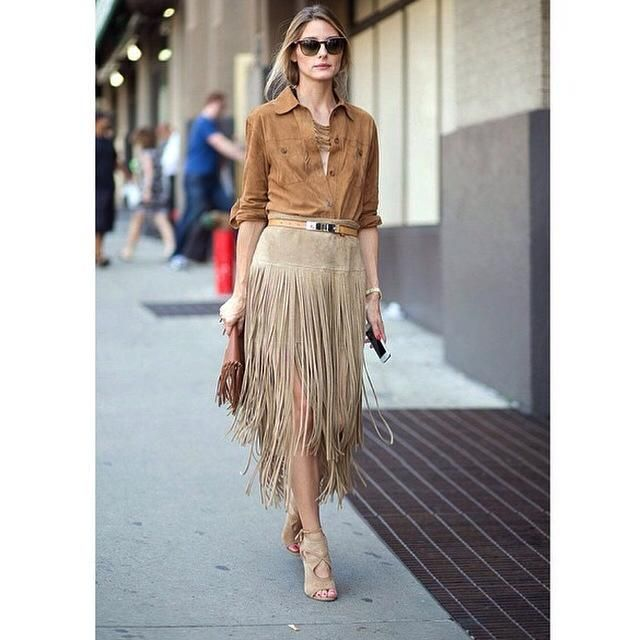 Chic Ways To Wear #Fringe #Skirt #Outfits In #2017
