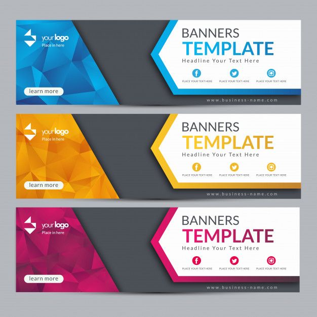 Abstract Web Banner Template Design Background Download