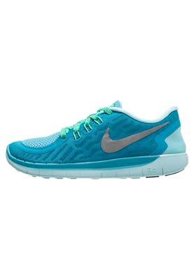 FREE 5.0 - Laufschuhe Natural Running - blue lagoon/metallic silver/midnight navy/copa/electro green