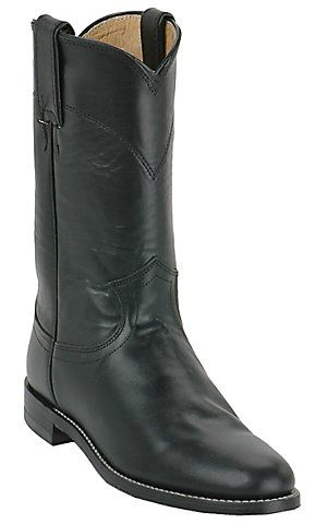 Justin® Ladies Black Kipskin Classic Roper Boots | Cavender's Boot City