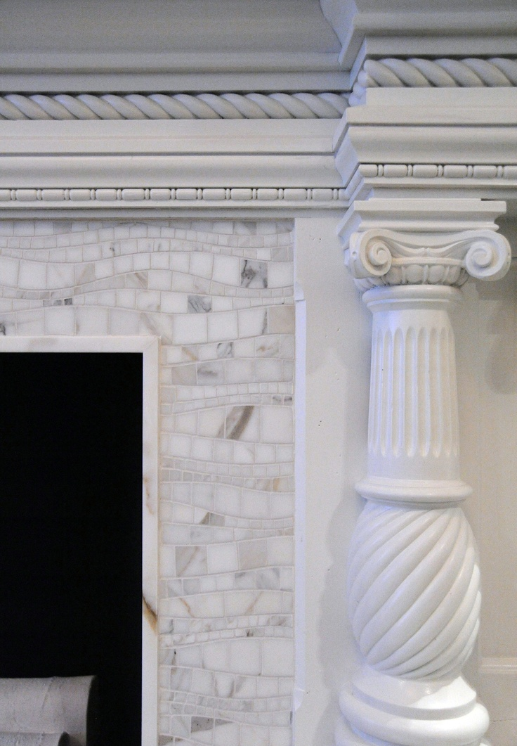 We Painted The Naked Wood Fireplace Mantle And Replaced