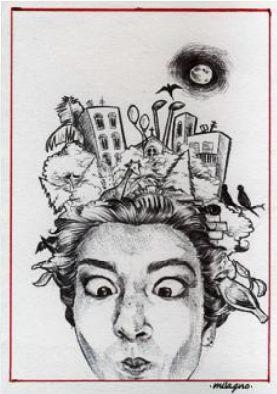 """I suoi """"ri-tratti"""" sono volti dalle linee totalmente deformanti tanto da risultare quasi grotteschi e la perfezione della resa fotografica delle opere è messa in discussione dalle espressioni al limite dell'assurdo che i personaggi assumono. In mostra le opere di Mila Gno il 7 Dicembre per la seconda serata del MArteLive con Nobraino, Orchestraccia, Lercio, Spinoza.it & more al Planet Roma storico club in via del Commercio 36. Prevendite acquistabili su marteticket.it…"""