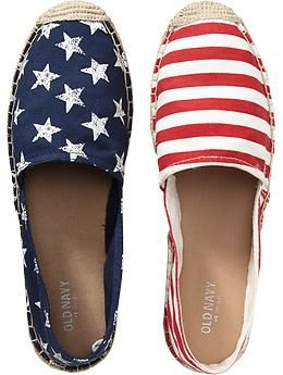 Womens Espadrilles flag pattern.  Old Navy!!  These are sooo cute!!! ^3^
