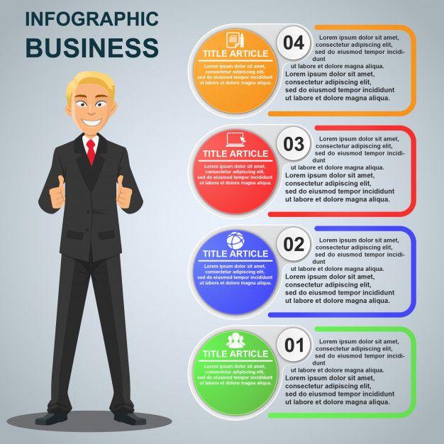 Businessman Infographic Template Premium Vector