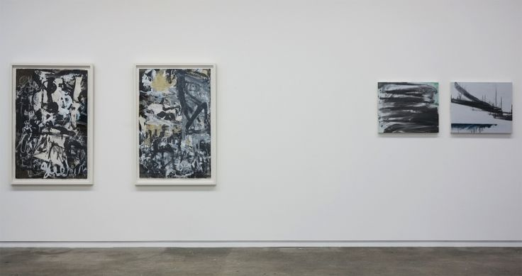 Works by Aida Tomescu and Jacqueline Humphries