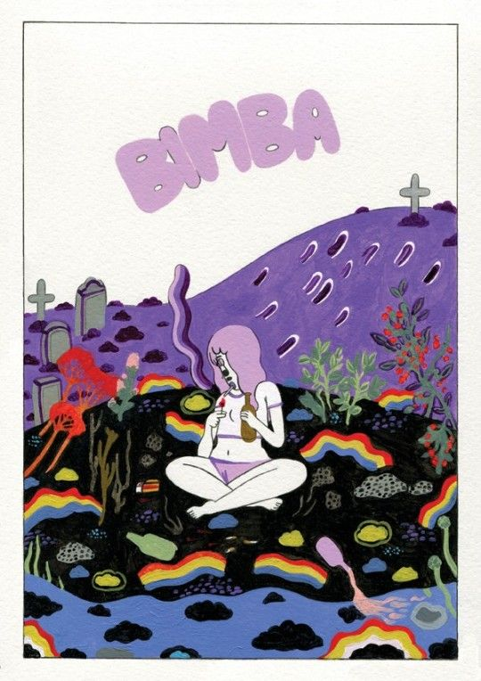 Last October, I stumbled upon a Tumblr blog with a couple of great illustrations and a name: Bimba. Those few images alone were honestly arresting enough to get me excited and make me contact head honcho extraordinaire Donya Todd to see what exactly Bimba was all about. Bimba is Donya's baby: a digital and print comic anthology showcasing the best of British women artists, with the ladies touring the UK to put on workshops, events and spread the good word of comicsdom.