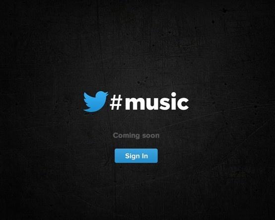 Twitter #music Landing Page