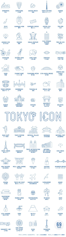 行きたい場所が多すぎる。食べたいものが多すぎる。やりたいことが多すぎる。そんな東京の魅力を69のアイコンで表現しました。TOKYO ICONはともに400年の歴史を誇る有田焼と江戸・東京の地域デザインコラボレーションです。あなたが伝統あるものに惹かれるなら。江戸時代から続く歌舞伎、相撲、浮世絵…、東京には時をかけて熟成した文化、芸術のパワーがあふれています。あなたがおいしいものに会いたいなら。大衆食堂から高級料理店まで、世界一こだわり料理人が多い東京の食を、じっくりと味わって。あなたが東京人の暮らしを知りたいなら。春の花見、夏の花火、四季折々のお祭り…。見るだけでなく輪に入って、地元の人々と交流しましょう。訪れるたびに、かならず新しい発見がある。それが東京。食器に触れながら世界都市TOKYOの見どころ、味わいどころをお楽しみください。