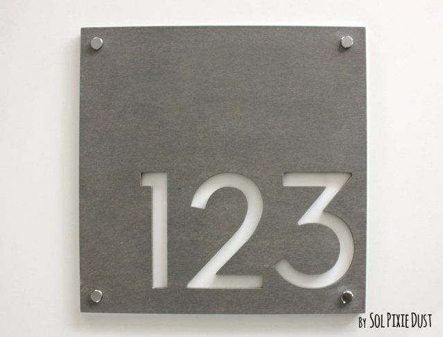best 25 house numbers modern ideas on pinterest house numbers address numbers and house. Black Bedroom Furniture Sets. Home Design Ideas