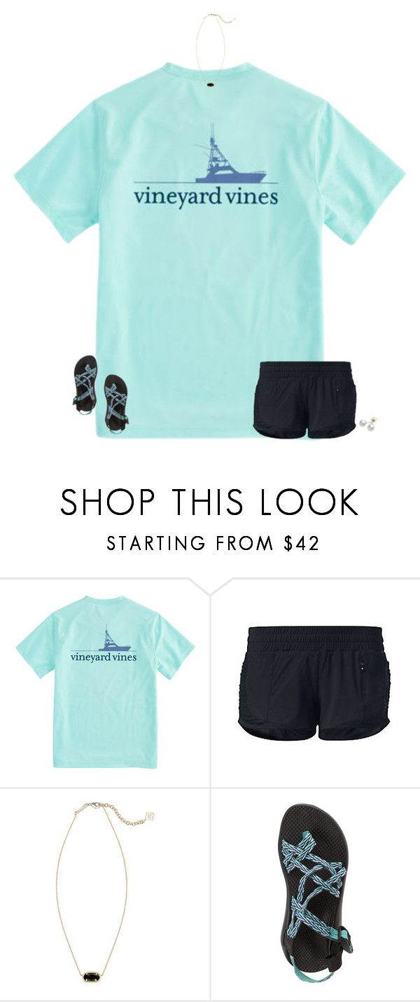 """"" by secfashion13 ❤ liked on Polyvore featuring Vineyard Vines, lululemon, Kendra Scott, Chaco and Mikimoto"