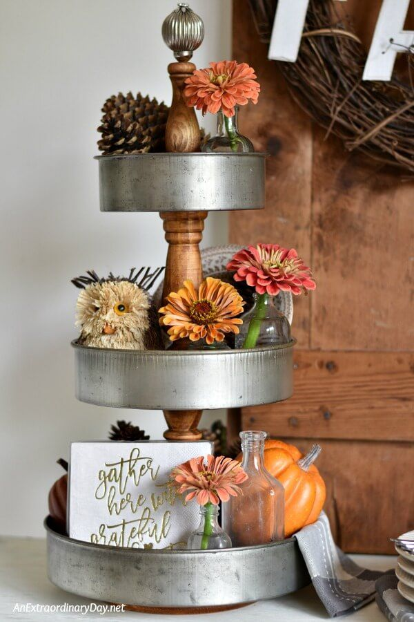 EASY! Here's how you can make a modern farmhouse, fixer upper style 3 tiered tray. No power tools required!