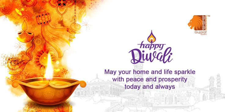 The divine festival of #Diwali brings all family members together to usher in enormous positivity & prosperity while the festive spirit soars high amidst colours, vibrancy & love. Wishing a #ShubhDeepawali to all! #GujaratTourism