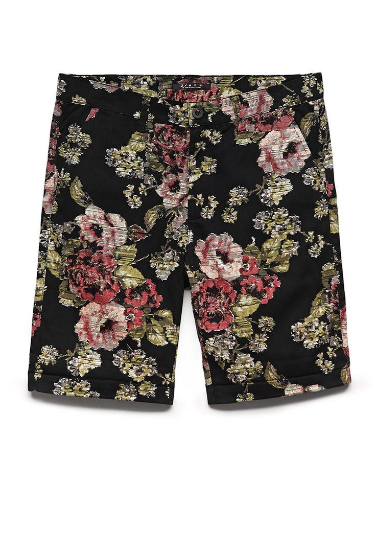 Pixelated Floral Shorts   21 MEN Florals for spring #21Men #F21Spring