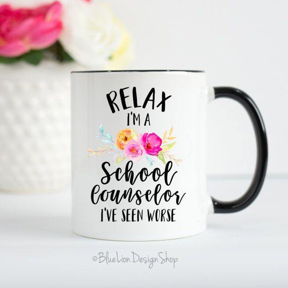 School Counselor Mug School Counselor Gift by BlueLionDesignShop