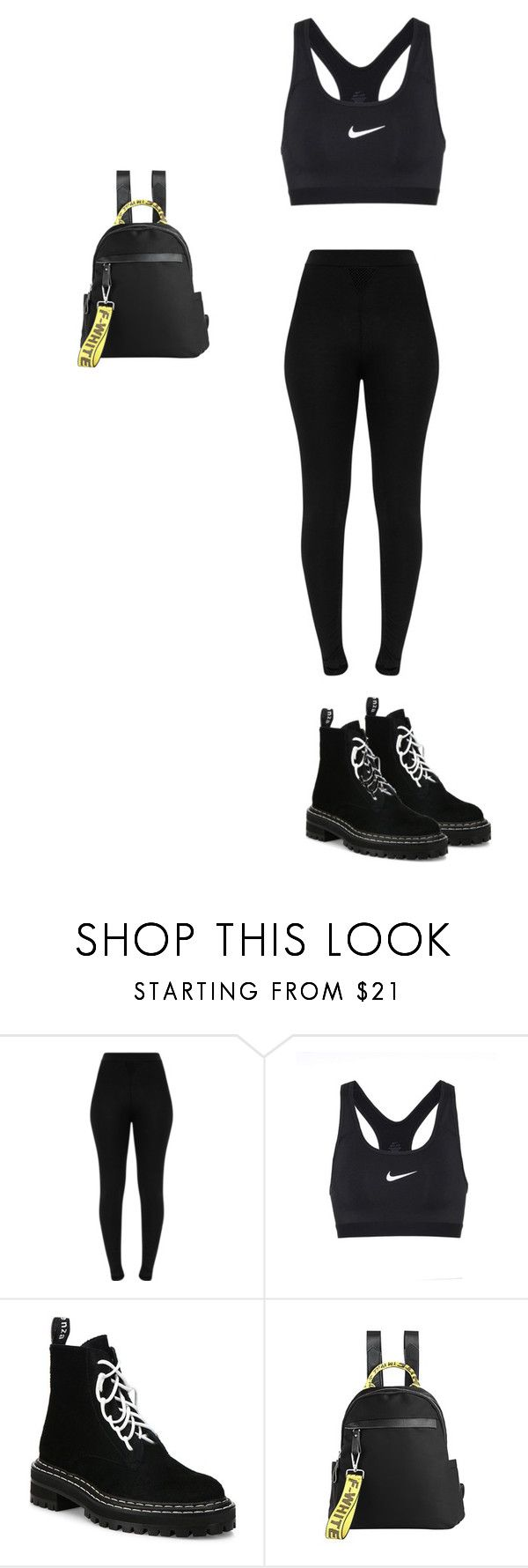 """""""Untitled #1225"""" by who-are-we ❤ liked on Polyvore featuring NIKE and Proenza Schouler"""