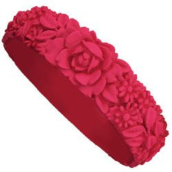 Big Flower Bracelet - Raspberry Red