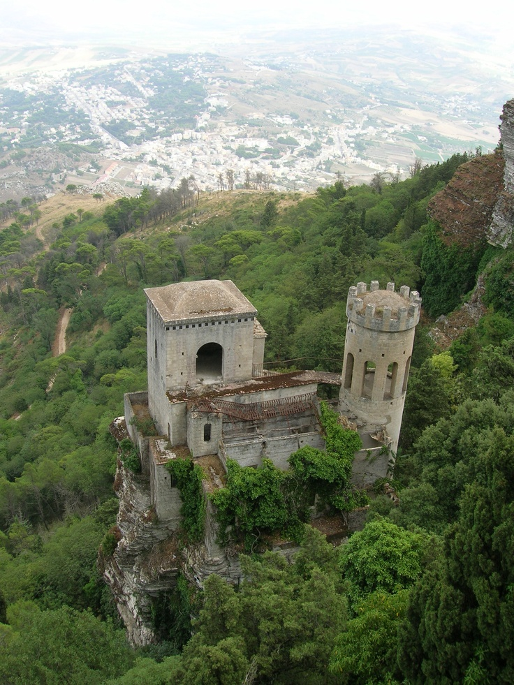 Erice, Trapani not gonna lie....it was scary getting up there ha ha ha