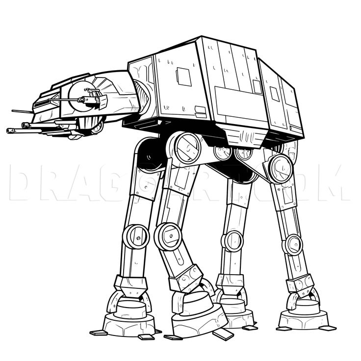 How To Draw An Imperial Walker, Imperial Walker, Step by