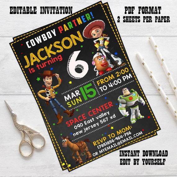 Instant download Toy Story Invitation Toy Story Birthday