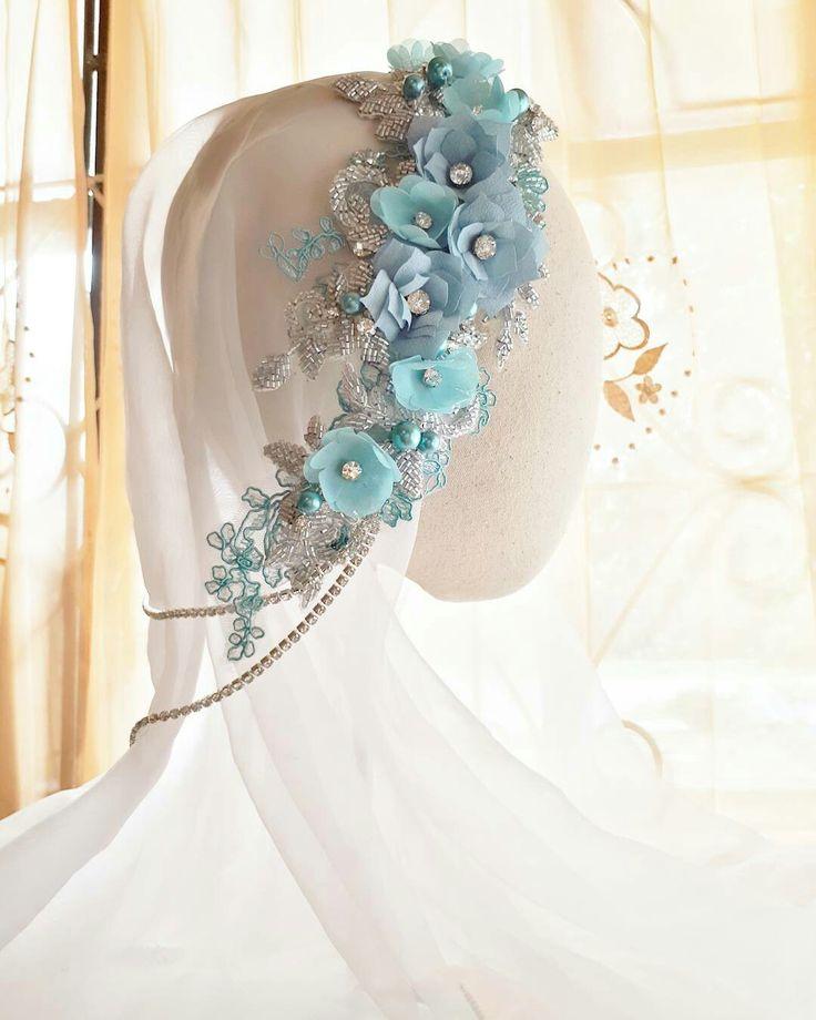 Moslem bride Bridal Hedpiece Wedding