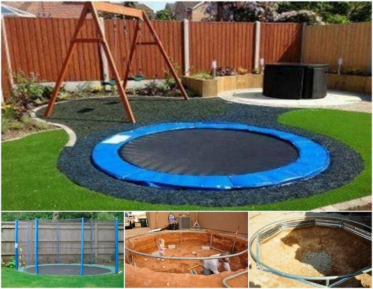 17 best images about landscaping on pinterest modern for How to put a trampoline in the ground