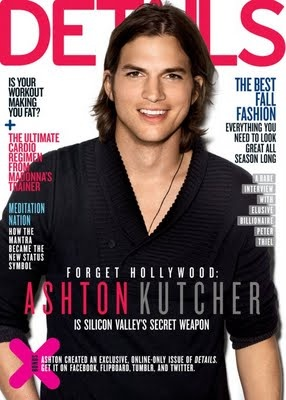 Ashton Kutcher, IMTA 1997 Most Sought After Male Model, on the cover of Details.