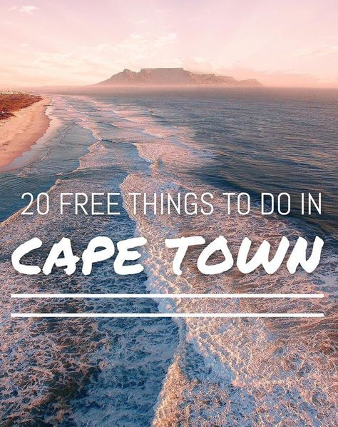 Here are 20 free things to do in Cape Town when your budget is a bit tight! You dont always need to spend a lot of money to see great things while traveling