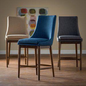 Belham Living Carter Mid Century Modern Upholstered Counter-Height Stool - Bar…
