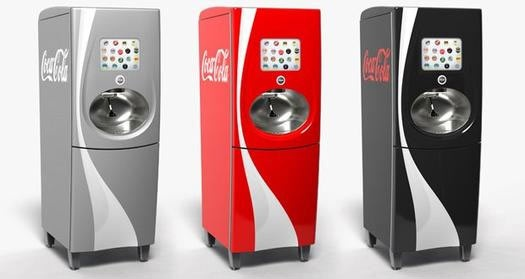Distributeur tactile de boissons - Coca-Cola Freestyle    http://marketing-et-communication.fr/2012/06/creez-vos-boissons-grace-aux-fontaines-tactiles-coca-cola-freestyle/