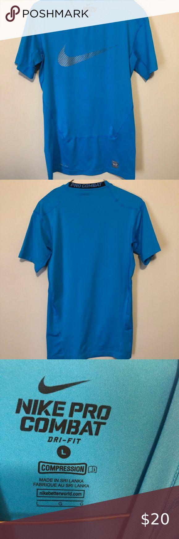 Men S Nike Pro Combat Shirt Size L Blue Combat Shirt Nike Pro Combat Nike Pros [ 1740 x 580 Pixel ]