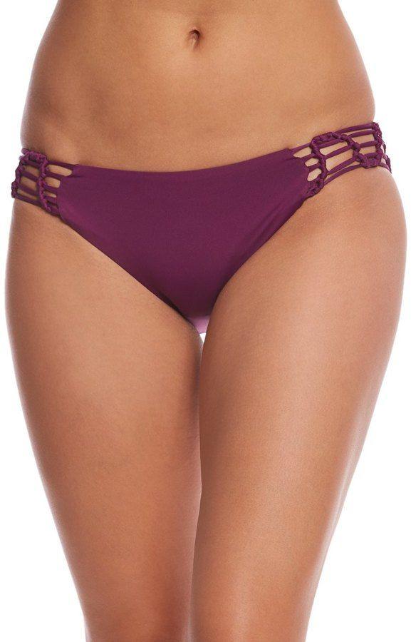 Becca Swim No Strings Attached Macrame Bikini Bottom 8161034