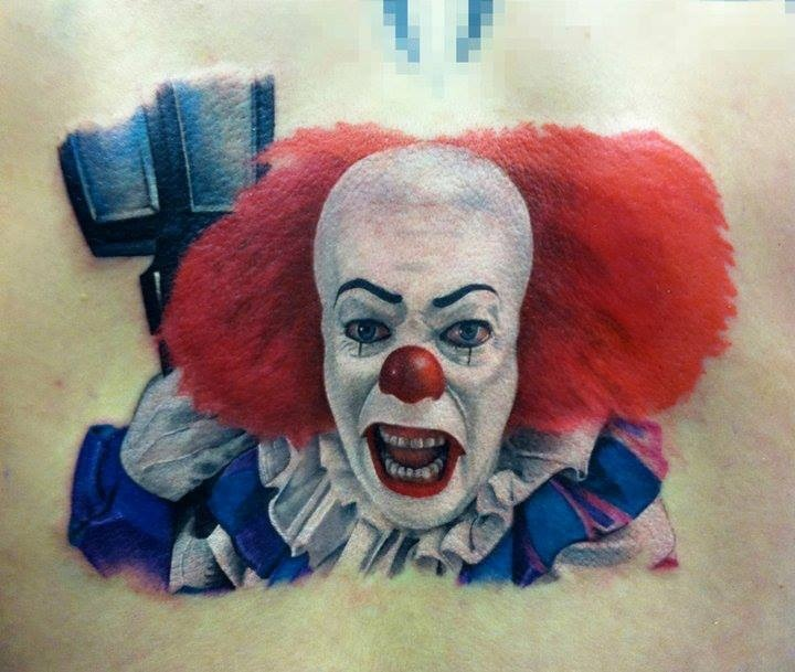 horror movie tattoo it the clown pennywise tattoos pinterest horror movie tattoos movie. Black Bedroom Furniture Sets. Home Design Ideas