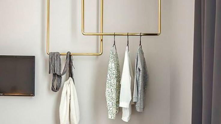 3 steg: så gör du en snygg klädstång som hänger fritt