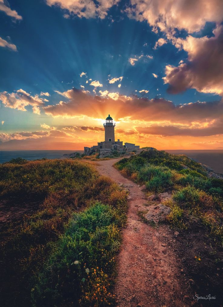 On My Bucket List Of Places To Visit So Pretty Lighthouse Of Loutraki Greece A Beautiful