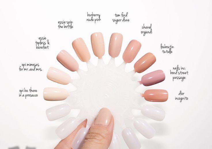 Нейтральный лак для ногтей Swatches |  Beauty Look Book