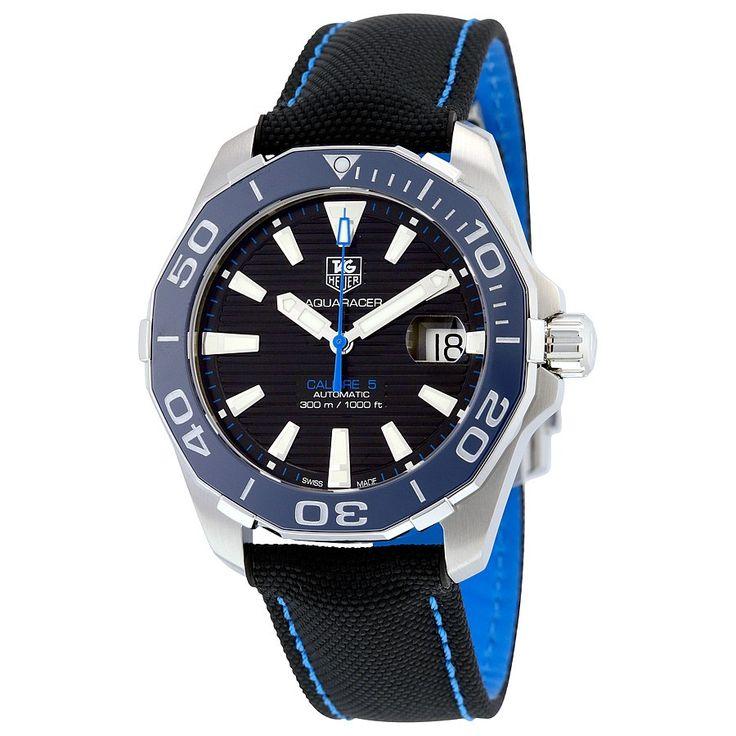Tag Heuer Aquaracer Automatic Black Dial Men's Watch WAY211B.FC6363 - Aquaracer - Tag Heuer - Watches - Jomashop