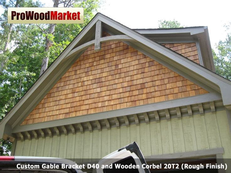Custom gable bracket d40 and wooden corbel 20t2 products Craftsman style gables